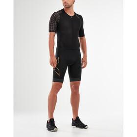 2XU Compression Full Zip Trisuit mit Ärmeln Herren black/gold